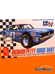 AMT: Model car kit 1/25 scale - Dodge Dart Hayes Jewellers #43 - Richard Petty (US) - Nascar - National Association for Stock Car Auto Racing - plastic parts, rubber parts, assembly instructions and painting instructions image