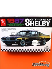 AMT: Model car kit 1/25 scale - Ford Shelby GT-350 1967 - plastic parts, rubber parts, water slide decals, assembly instructions and painting instructions