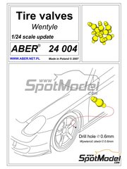 Aber: Air valve 1/24 scale - Air valves - turned metal parts and assembly instructions - 8 units
