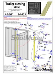Aber: Detail 1/24 scale - Trailer and container closing - metal parts, photo-etched parts and assembly instructions image