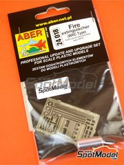 Aber: Fire extinguisher 1/24 scale - WRC fire extinguisher - photo-etched parts and turned metal parts image