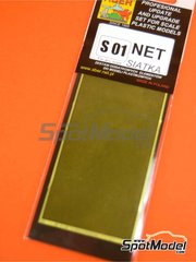 Aber: Mesh - Square grid - 80x45 mm - 0,5x0,5 mm - photo-etched parts image
