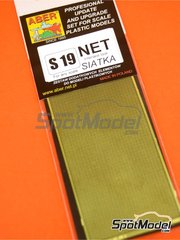 Aber: Mesh - Interlaced mesh - 80x45 mm - 0,5x0,5 mm - photo-etched parts