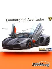 Aoshima: Model car kit 1/24 scale - Lamborghini Aventador LP700-4 - plastic parts, rubber parts, water slide decals and assembly instructions image