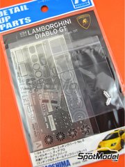 Aoshima: Detail up set 1/24 scale - Lamborghini Diablo GT - photo-etched parts, turned metal parts and other materials - for Aoshima reference 01052