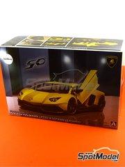 Aoshima: Maqueta de coche escala 1/24 - Lamborghini Aventador LP720-4 50th Anniversario - maqueta de plástico