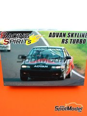 Aoshima: Model car kit 1/24 scale - Advan Skyline RS Turbo Racing Spirit's #26 - K. Takahashi (JP) + Takao Wada (JP) - Japan Touring Car Championship (JTCC) - plastic parts, rubber parts, water slide decals, assembly instructions and painting instructions