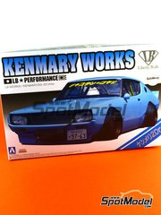 Aoshima: Model car kit 1/24 scale - Nissan Skyline Kenmary Works Liberty Walk Works image