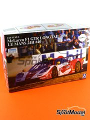 Aoshima: Model car kit 1/24 scale - McLaren F1 GTR Long Tail EMI Ueno Clinic #40 - Steve O'Rourke (GB) + Tim Sugden (GB) + Auberlen (US) - 24 Hours Le Mans 1998 - plastic model kit image
