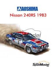 Aoshima: Model car kit 1/24 scale - Nissan 240RS #3 - Timo Salonen (FI) + Seppo Harjanne (FI) - New Zealand rally 1983 - plastic model kit
