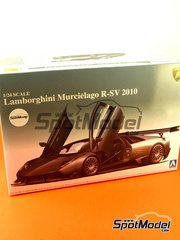 Aoshima: Model car kit 1/24 scale - Lamborghini Murcielago R-SV 2010 - plastic model kit image