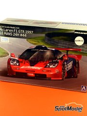 Aoshima: Model car kit 1/24 scale - McLaren F1 GTR Long Tail Lark #44 - Masanori Sekiya (JP) + Keiichi Tsuchiya (JP) + Akahiko Nakaya (JP) - 24 Hours Le Mans 1997 - plastic model kit