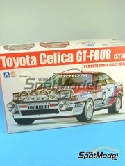 Aoshima: Model car kit 1/24 scale - Toyota Celica GT-Four ST165 Group A Repsol #2 - Carlos Sainz (ES) + Luis Moya (ES) - Montecarlo Rally 1991 - plastic model kit