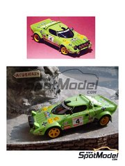 Arena: Model car kit 1/43 scale - Lancia Stratos Group 4 #4 - Jorge de Bagration (ES) + Llopis - Costa Brava Rally 1979 - resin multimaterial kit