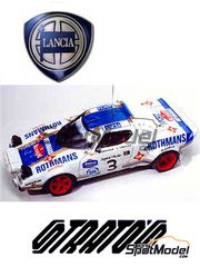 Arena: Model car kit 1/43 scale - Lancia Stratos Rothmans #3 - Jorge de Bagration (ES) + Jordi Sabater (ES) - Catalunya Costa Dorada RACC Rally 1975 - resin multimaterial kit