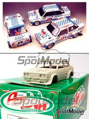 Arena: Model car kit 1/43 scale - Fiat 131 Abarth Team Jensen  #32, 34, 36 - Elba Rally 1982 - resin multimaterial kit