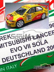Arena: Model car kit 1/43 scale - Mitsubishi Lancer Evo VII  - Daniel 'Dani' Solà (ES) - ADAC Deutschland Rally 2003 - resin multimaterial kit