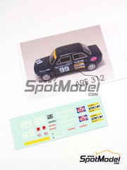 Decals 1/43 by Arena - Fiat 128 1100 Team Trivellato - # 99 - Crassevig - Monza Rally 1973 image
