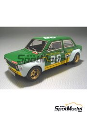 Arena: Model car kit 1/43 scale - Fiat 128 1100 Team Trivellato #96 - Danieli - Monza Rally 1973 - resin multimaterial kit