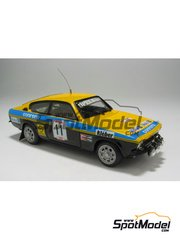 Car kit 1/43 by Arena - Opel Kadett GTE 1999  - Lucky + Berro - San Martino di Castrozza Rally 1977 - resin multimaterial kit
