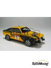 Car kit 1/43 by Arena - Opel Kadett GTE 2000  - Coulsoul + Lopes - Haspengow Rally 1979 - resin multimaterial kit