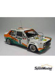 Arena: Model car kit 1/43 scale - Fiat 131 Abarth - Bernard Darniche (FR) + Alain Mahé (FR) - Targa Florio 1981 - resin multimaterial kit