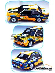 Arena: Model car kit 1/43 scale - Fiat 131 Abarth Olio Fiat #5 - Togana + Sergio Cresto (US) 1981 - resin multimaterial kit