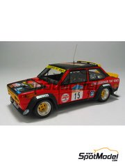 Arena: Model car kit 1/43 scale - Fiat 131 Abarth - Pasetti + Luiggi Pirollo (IT) - Colline Di Romagna 1980 - resin multimaterial kit