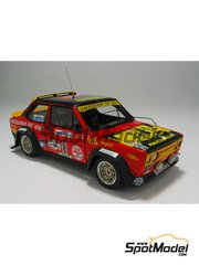 Arena: Model car kit 1/43 scale - Fiat 131 Abarth - Lucky + Fabrizia Pons (IT) - Costa Esmeralda Rally 1978 - resin multimaterial kit