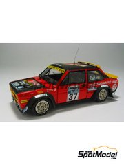 Arena: Model car kit 1/43 scale - Fiat 131 Abarth - Lucky + Fabrizia Pons (IT) - Great Britain RAC Rally 1979 - resin multimaterial kit