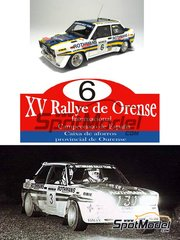 Arena: Model car kit 1/43 scale - Fiat 131 Abarth Rothmans - Pablo de Sousa (ES) + Pablo Garcia (AR) - Orense Rally 1982 - resin multimaterial kit