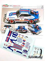 Arena: Decals 1/43 scale - Porsche 911 SC Group 4 Rothmans #6 - Benigno 'Beny' Fernandez (ES) + José Luis Salas (ES) - Orense Rally 1981 - for Arena kit ARE374