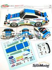 Arena: Decals 1/43 scale - Porsche 911 SC Group 4 Rothmans #2 - Benigno 'Beny' Fernandez (ES) + José Luis Salas (ES) - Principe de Asturias Rally 1982 - for Arena reference ARE375