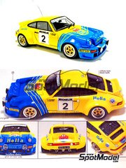 Arena: Model car kit 1/43 scale - Porsche 911 SC Hella #2 - Benigno 'Beny' Fernandez (ES) + José Luis Salas (ES) - Orense Rally 1981 - resin multimaterial kit