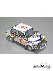 Arena: Model car kit 1/43 scale - Fiat 127 Team Albanese - Adani + Gatti - Safari Rally 1981 - resin multimaterial kit