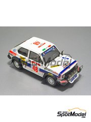 Arena: Model car kit 1/43 scale - Fiat 127 Team Albanese - Ballestra + Anghel - Safari Rally 1981 - resin multimaterial kit