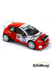 Arena: Model car kit 1/43 scale - Peugeot 206 WRC - de Tisi + Pollet - Rally Valli 2006 - resin multimaterial kit