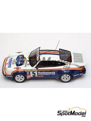 Arena: Model car kit 1/43 scale - Porsche 911 SCRS Rothmans - Henri Toivonen (FI) + Ian Grindrod (GB) - 24 Hours de Ypres Rally 1984 - resin multimaterial kit