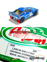 Arena: Model car kit 1/43 scale - Lancia Rally 037 Grundig - Bernard Darniche (FR) + Alain Mahé (FR) - Antibes Rally 1983 - resin multimaterial kit
