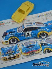 Arena: Model car kit 1/43 scale - Porsche 911 Carrera Gitanes #3 - Jean-Pierre Nicolas (FR) + Vincent Laverne (FR) - Montecarlo Rally - Rallye Automobile de Monte-Carlo 1978 - resin multimaterial kit