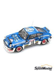 Arena: Model car kit 1/43 scale - Porsche 911 SC Kenwood - Éric Bernard (FR) + Bernard Béguin (FR) - Antibes Rally 1982 - resin multimaterial kit