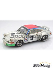 Arena: Model car kit 1/43 scale - Porsche 911 RSR Prove #9 - Claude Haldi (CH) + Leo Kinnunen (FI) - Targa Florio 1973 - resin multimaterial kit