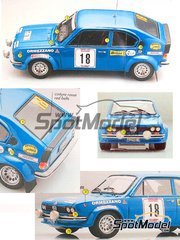 Arena: Model kit 1/25 scale - Alfa Romeo Alfasud Ti Group 2