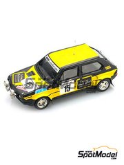 Arena: Model car kit 1/43 scale - Fiat Ritmo 75 Carling - William 'Willy' Plas (BE) + Nys - Condroz Rally 1979