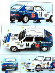 Arena: Model car kit 1/43 scale - Fiat Ritmo 75 Boule Nationale #14 - William 'Willy' Plas (BE) - Boucles de SPA 1981