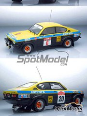 Arena: Model car kit 1/24 scale - Opel Kadett GTE 1900 group 2 and group 4 #6, 20 - Amilcare Ballestrieri (IT) + Roberto 'Rudy' Dalpozzo (IT), Federico Ormezzano (IT) + Renato Meiohas (IT) - Sanremo Rally 1977 - resin multimaterial kit
