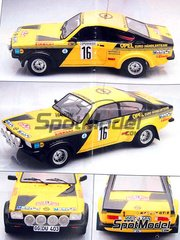Arena: Model car kit 1/24 scale - Opel Kadett GTE 1900 Group 2 #16 - Walter R�hrl (DE) + Gerhard Berger (AT) - Montecarlo Rally 1976 - resin multimaterial kit