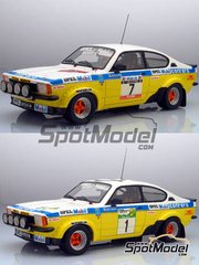 Car kit 1/24 by Arena - Opel Kadett GTE 2000 Group 2 - N� 1, 7 - Ormezzano, Rudy - Elba Rally 1978 - resin multimedia car kit