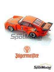 Arena: Model car kit 1/24 scale - Porsche 935 Carrera RSR 3.0 Jagermeister #3 - Helmut Kelleners (DE) + Hans Heyer (DE) + Robert 'Bob' Wollek (FR) - 1000 Kms Nürburgring 1975 - resin multimaterial kit