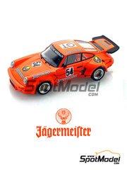 Arena: Model car kit 1/24 scale - Porsche 935 Carrera RSR Kremer Jagermeister #5, 54 - DTM Hockenheim 1975 - resin multimaterial kit